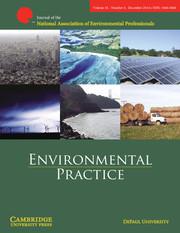 Environmental Practice Volume 16 - Issue 4 -