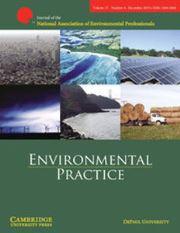 Environmental Practice Volume 17 - Issue 4 -