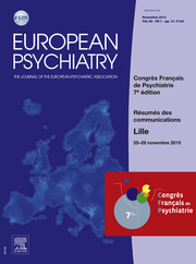 European Psychiatry Volume 30 - Issue S2 -  HS1 - Congrès Français de Psychiatrie 2015