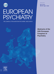 European Psychiatry Volume 33 - Issue S1 -  Abstracts of the 24th European Congress of Psychiatry
