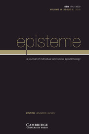 Episteme Volume 16 - Issue 2 -