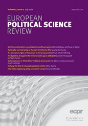 European Political Science Review Volume 2 - Issue 2 -