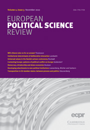 European Political Science Review Volume 2 - Issue 3 -