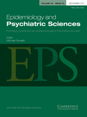 Epidemiology and Psychiatric Sciences Volume 20 - Issue 4 -