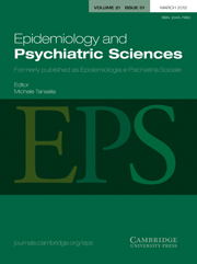 Epidemiology and Psychiatric Sciences Volume 21 - Issue 1 -