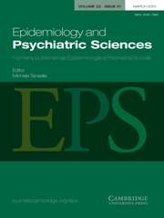 Epidemiology and Psychiatric Sciences Volume 22 - Issue 1 -