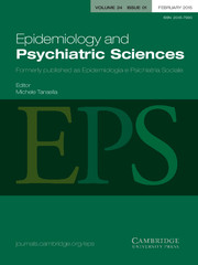 Epidemiology and Psychiatric Sciences Volume 24 - Issue 1 -