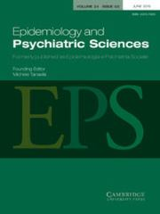 Epidemiology and Psychiatric Sciences Volume 24 - Issue 3 -