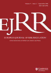 European Journal of Risk Regulation Volume 9 - Issue 3 -  Symposium on Effective Law and Regulation