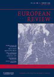European Review Volume 14 - Issue 1 -