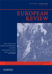 European Review Volume 17 - Issue 1 -