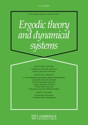 Ergodic Theory and Dynamical Systems