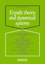 Ergodic Theory and Dynamical Systems Volume 23 - Issue 3 -