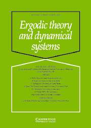 Ergodic Theory and Dynamical Systems Volume 25 - Issue 2 -