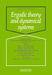 Ergodic Theory and Dynamical Systems Volume 25 - Issue 4 -