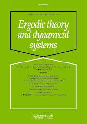 Ergodic Theory and Dynamical Systems Volume 27 - Issue 1 -