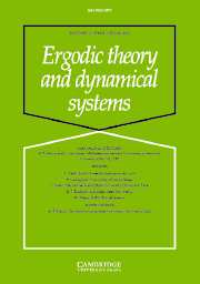 Ergodic Theory and Dynamical Systems Volume 27 - Issue 3 -