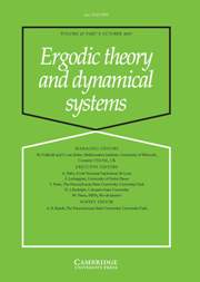Ergodic Theory and Dynamical Systems Volume 27 - Issue 5 -