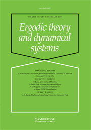 Ergodic Theory and Dynamical Systems Volume 29 - Issue 1 -