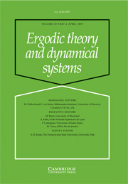 Ergodic Theory and Dynamical Systems Volume 29 - Issue 2 -