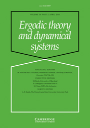 Ergodic Theory and Dynamical Systems Volume 30 - Issue 2 -