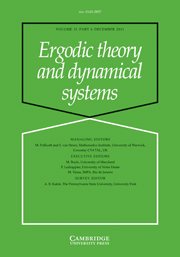Ergodic Theory and Dynamical Systems Volume 31 - Issue 6 -