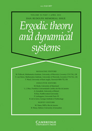 Ergodic Theory and Dynamical Systems Volume 32 - Issue 2 -  Daniel J. Rudolph – in Memoriam