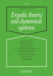 Ergodic Theory and Dynamical Systems Volume 35 - Issue 3 -