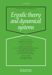 Ergodic Theory and Dynamical Systems Volume 35 - Issue 6 -
