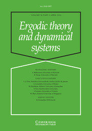 Ergodic Theory and Dynamical Systems Volume 36 - Issue 2 -
