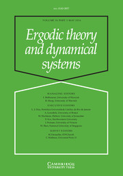 Ergodic Theory and Dynamical Systems Volume 36 - Issue 3 -
