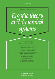 Ergodic Theory and Dynamical Systems Volume 37 - Issue 4 -