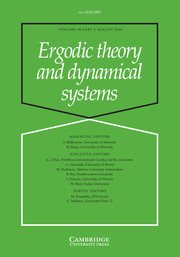 Ergodic Theory and Dynamical Systems Volume 38 - Issue 5 -