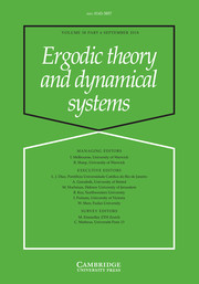 Ergodic Theory and Dynamical Systems Volume 38 - Issue 6 -
