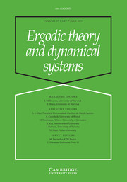 Ergodic Theory and Dynamical Systems Volume 39 - Issue 7 -