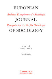 European Journal of Sociology / Archives Européennes de Sociologie Volume 58 - Issue 3 -