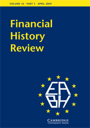 Financial History Review Volume 16 - Issue 1 -