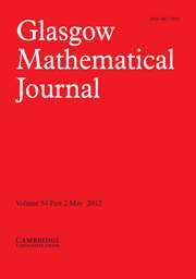 Glasgow Mathematical Journal Volume 54 - Issue 2 -