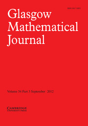 Glasgow Mathematical Journal Volume 54 - Issue 3 -