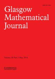Glasgow Mathematical Journal Volume 58 - Issue 2 -