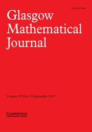 Glasgow Mathematical Journal Volume 59 - Issue 3 -