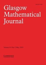 Glasgow Mathematical Journal Volume 61 - Issue 2 -