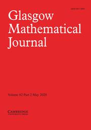 Glasgow Mathematical Journal Volume 62 - Issue 2 -