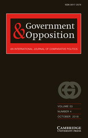 Government and Opposition Volume 53 - Issue 4 -