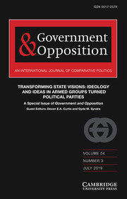 Government and Opposition Volume 54 - Issue 3 -