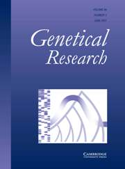 Genetics Research Volume 89 - Issue 3 -