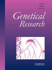 Genetics Research Volume 89 - Issue 4 -