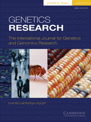 Genetics Research Volume 92 - Issue 4 -