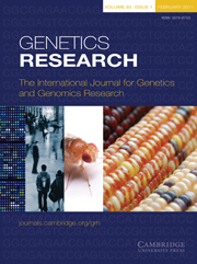 Genetics Research Volume 93 - Issue 1 -
