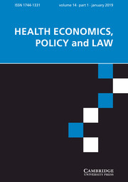 Health Economics, Policy and Law Volume 14 - Issue 1 -